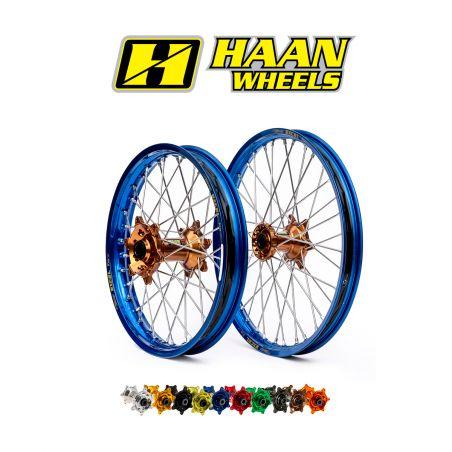 Ruote complete HAAN WHEELS YAMAHA YZ 250 F 2014-2020 cerchio: Oro, Nero o Blu