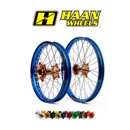 Ruote complete HAAN WHEELS YAMAHA YZ 450 F 2014-2020 cerchio: Oro, Nero o Blu