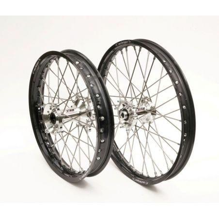 Ruote complete REX KTM 125 SX 2013-2021 Cerchio nero - Mozzo argento