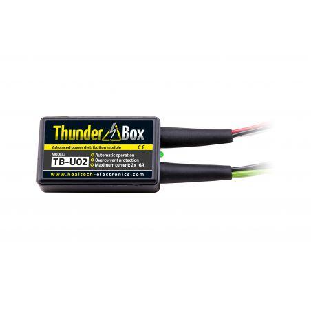 HT-TB-U0x Thunder Box - Hub Alimentazione Accessori PIAGGIO X Evo 400 400 2007-2012- 2 attacchi multipli x 16 Amp