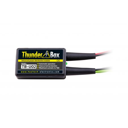 HT-TB-U0x Thunder Box - Hub Alimentazione Accessori PIAGGIO X8 250 250 2005-2008- 2 attacchi multipli x 16 Amp