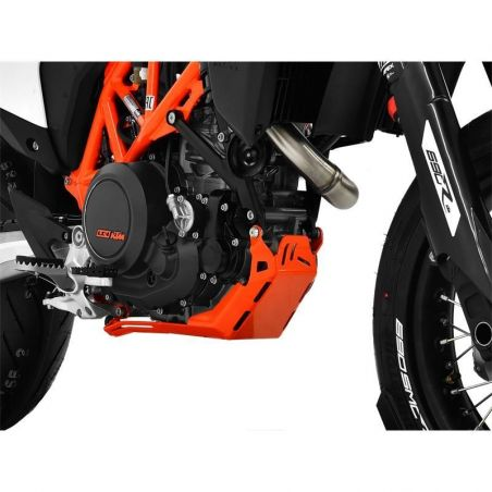 Z10005541 Zieger - Piastra Paramotore KTM 690 SMC R 655 2019-2020 argento