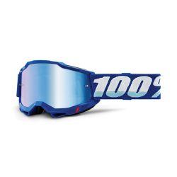 MASCHERA 100% ACCURI 2 BLUE - LENTE A SPECCHIO BLU