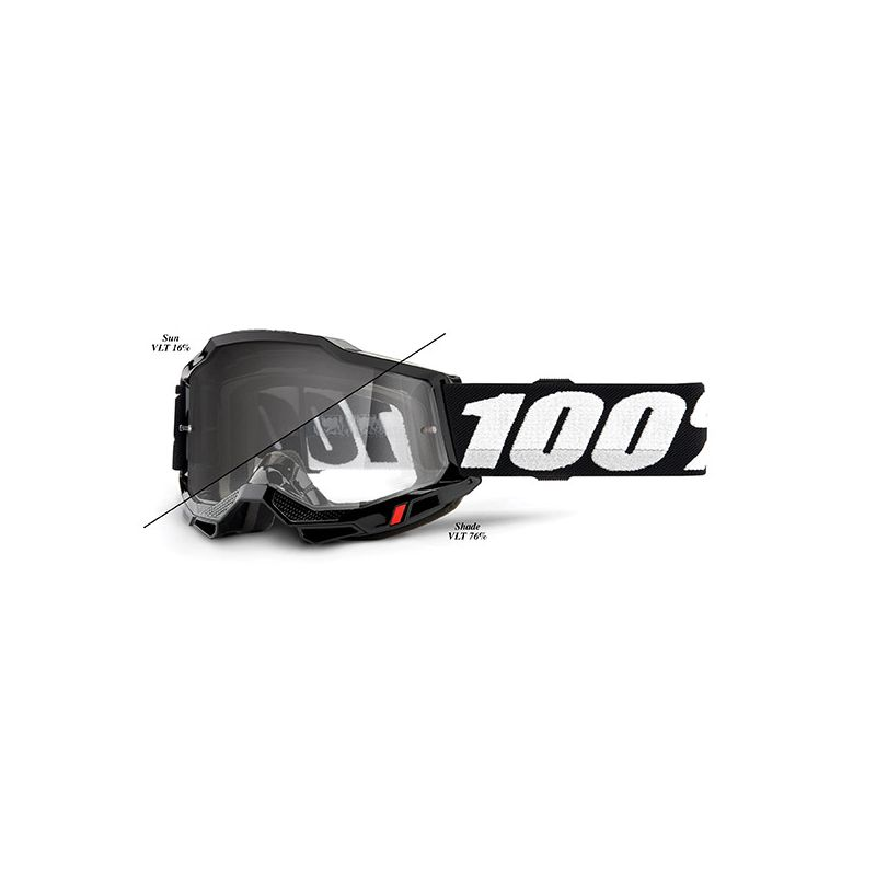 MASCHERA 100% ACCURI 2 WOODS BLACK - LENTE FOTOCROMATICA
