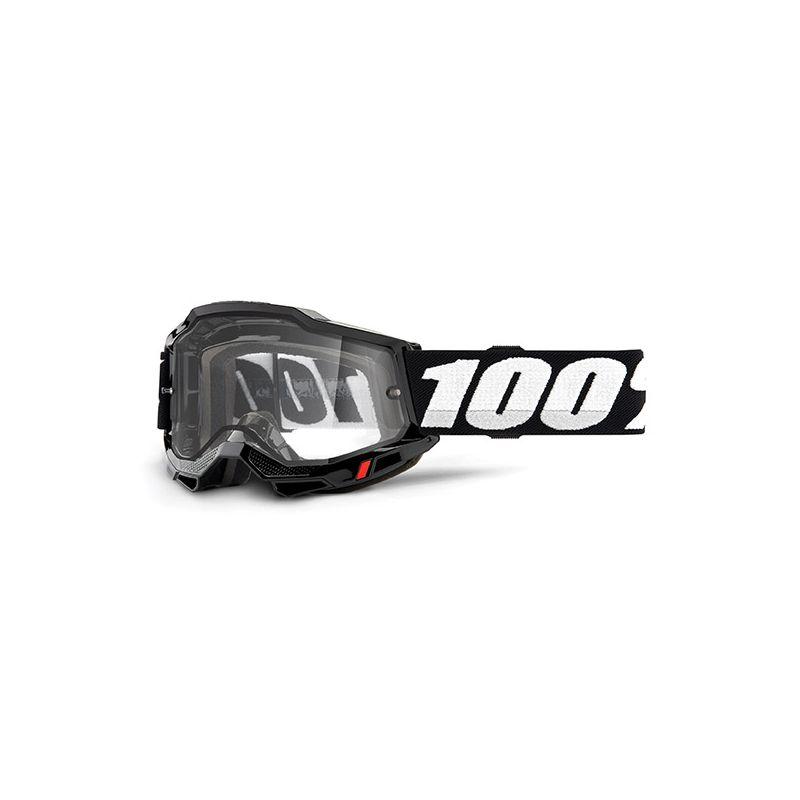 MASCHERA 100% ACCURI 2 ENDURO MOTO BLACK - LENTE TRASPARENTE