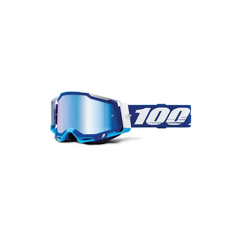 MASCHERA 100% RACECRAFT 2 BLUE - LENTE A SPECCHIO BLU