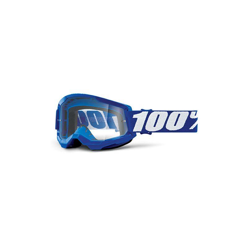 MASCHERA 100% STRATA 2 BLUE - LENTE TRASPARENTE