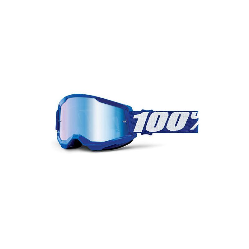 MASCHERA 100% STRATA 2 BLUE - LENTE A SPECCHIO BLU