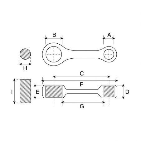 Bielle PROX KTM 125 XC-W 2017-2019