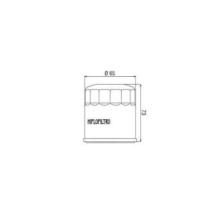 HF303 Filtro olio HIFLO KAWASAKI Z 650 2017-2020 iche:  HIFLO