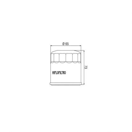 HF303 Filtro olio HIFLO KAWASAKI Z 900 2017-2020 iche:  HIFLO