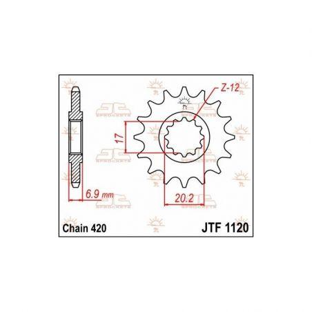 Pignone in acciaio JT fuoristrada MINARELLI AM6 50 1995-2020