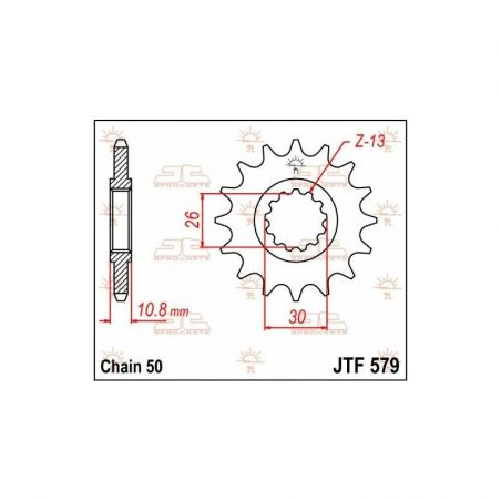 Pignone in acciaio JT strada YAMAHA FJ 1100 1984-1985