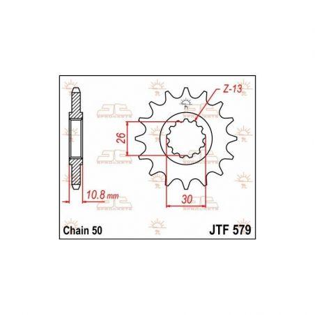 Pignone in acciaio JT strada YAMAHA FZ1 1000 2006-2014