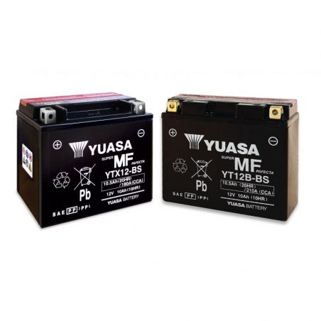 Batterie YUASA SUZUKI GSX R 750 1992-1995 YTX12-BS/CBTX12-BS Ah10