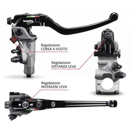 110C74010 Radial Brake Brembo 19RCS RACE SHORT  CNC RACING