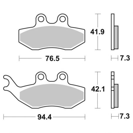 SBS Front Brake Pads for...
