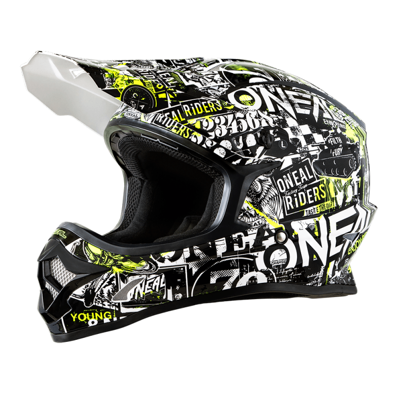 3SRS Youth Casco ATTACK black/neon yellow