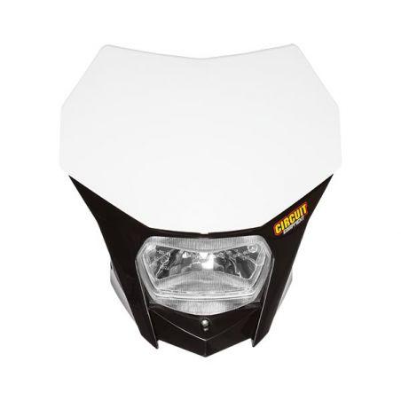 PORTAFARO BAGUS NERO-BIANCO CON LAMPADA ALOGENA 12V 35/35W (Rif.CIRCUIT: HL020-212)