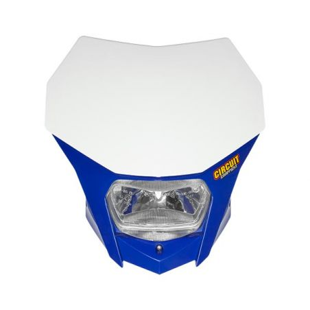 PORTAFARO BAGUS BIANCO-BLU CON LAMPADA ALOGENA 12V 35/35W (Rif.CIRCUIT: HL020-242)