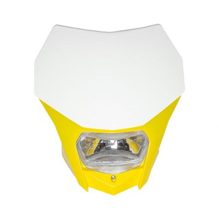 PORTAFARO BAGUS BIANCO-GIALLO CON LAMPADA ALOGENA 12V 35/35W (Rif.CIRCUIT: HL020-262)