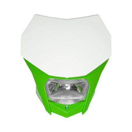 PORTAFARO BAGUS BIANCO-VERDE CON LAMPADA ALOGENA 12V 35/35W (Rif.CIRCUIT: HL020-272)