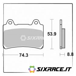 613DCC-27927 - SBS Pastiglie Freno Anteriore Dx-Sx per Yamaha XVZ Royal Star 4NK-4YP 96/00 613DCC Racing Classic Dual Ca