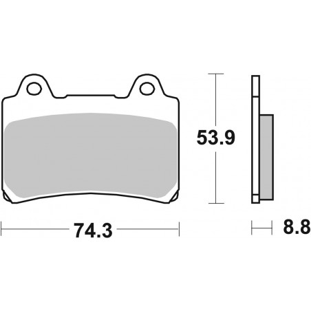 613DCC-27927 - SBS Front Left Right Brake Pads for Yamaha XVZ Royal Star 4NK-4YP 96/00 613DCC Racing Classic Dual Ca